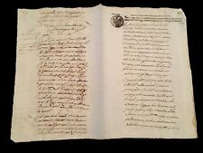 EAGLE STAMPED MANUSCRIPT 1641. SICILY