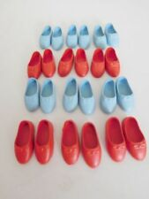 WHITE VINTAGE LEATHER DOLL SHOES SIZE 5 LOT OF 12