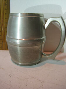 Selangor Pewter Mug 9cm high - chill it to REALLY ENJOY the taste of your BEER