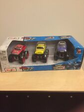 New in Box 2013 Maisto FRESH METAL DIRT DEMONS DIECAST 1/64 Scale 3-pack