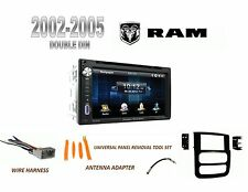 NEW 2002-2005 DODGE RAM PICKUP BLUETOOTH TOUCHSCREEN DVD 2 DIN CAR STEREO COMBO