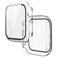 Funda para Apple Watch Series SE/6/5/4/3/2 Cubierta Protector de Pantalla de Vidrio Templado