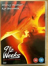 Nine & A Half Weeks DVD 9 1/2 Classic Erotic Drama w/ Mickey Rourke Kim Basinger