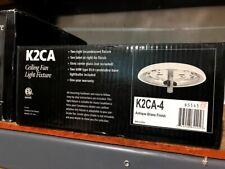 Casablanca Ceiling Fan Light Fixture Antique Brass Finish K2CA-4