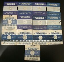 View-Master lot of 13 vintage single reels World Cities and more
