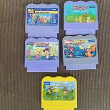 Lot of 5 V Tech V Smile Learning System Game Cartridges Spiderman Scooby Do More