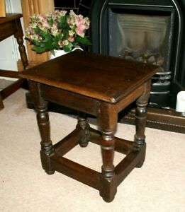 ANTIQUE VICTORIAN OAK JOINT STOOL, PEGGED JOINTS, LOVELY CONDITION, TABLE, LAMP