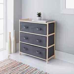 New Elegant Addis 3 Drawer Canvas Unit This Pine Unit is Ideal Storage