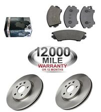FRONT BRAKE DISCS AND BRAKE PADS FITS VAUXHALL INSIGNIA WITH 296mm DISCS
