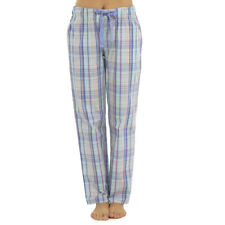Womens Pyjama Bottoms Ladies Lounge Pants Check Cotton Blend Nightwear 10-18 Navy-polar Bear 8-10