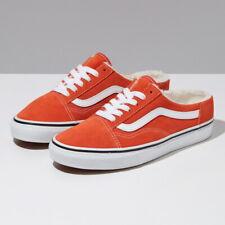 Vans Suede Sherpa Old Skool Mule Skate Sneakers Shoes Orange VN0A4P3Y5FL US 4-11