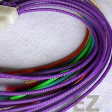 3mm x 5m PURPLE Expandable Braided PET Cable Sleeving High Density PC RC Modding