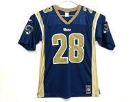 LA Rams throwback Marshall Faulk Reebok men's large football jersey