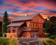 NEW HO Kibri 38011 Mountain Lodge / Forest House with LED LIGHTS : Model KIT