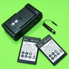 2x 2250mAh Battery Charger Stylus for Straight Talk/Tracfone/Net10 LG 306G Phone