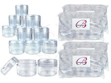 24 Pieces 30G/30ML Round Clear Sample Jars with Clear Round Top Screw Cap Lids