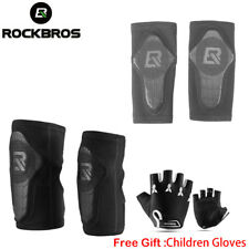 Rockbros Child Skateboard Cycle Protective Gear Kids Kneepad Elbow Pad Black Set
