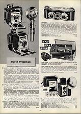 1954 PAPER AD Busch Pressman Camera Model C D Iloca Stereo Bolsey DeJur