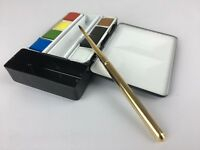 ARTIST travel artist flask watercolor metal palette box paint set $69 Great Gift