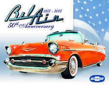 Vintage Chevy Bel Air 50th Anniversary Retro Metal Sign #1395 Mancave Garage