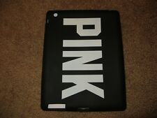 VICTORIA'S SECRET PINK IPAD 2 3 RUBBER SILICONE SLEEVE CASE SKIN BLACK NEW