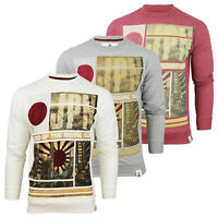 Soul Star Mens Jumper Sweatshirt Japan Rising Sun Graphic Photo Print Tshirt Top