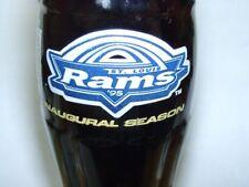 St. Louis Rams 1995 Inaugural Coca-Cola Coke Bottle