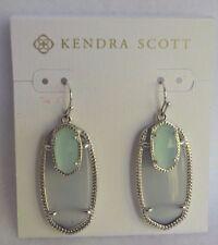 NIB Kendra Scott Slate Gray and Green Chalcedony Color Double Stone Earrings