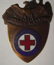 WW2 ARC Military Welfare Hat Badge - American Red Cross