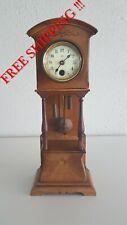 0324 - Rare antique Junghans Hau Miniature Grandfather Clock