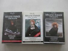 MYLENE FARMER LOT DE 3 VHS LES CLIPS VOLUME I / II / III BE/TBE  lot2