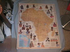 VINTAGE THE HERITAGE + PEOPLES OF AFRICA MAP National Geographic December 1971