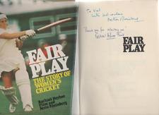 SIGNED RACHAEL HEYHOE & NETTA RHEINBERG FAIR PLAY WOMEN'S CRICKET 1ST ED HB 1976