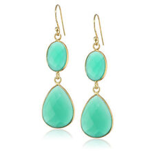 Green Onyx  2 Drop Earrings