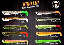 Monkey Lures 10 cm King Lui Gummifische Kunstköder alle neuen Farben