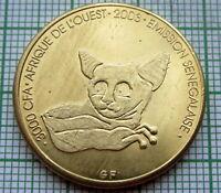 SENEGAL 2003 2 AFRICA or 3000 CFA, GALAGO, OR BUSH BABY MONKEY, UNC