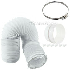 400cm Long Vent Hose Extension Pipe & Connectors for Hoover Tumble Dryer
