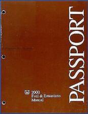 2000 Honda Passport Combustible y Emisiones Reparación Manual Taller 3.2 Motor