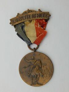 Vintage Lafayette at Metz Medal Badge