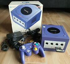 Nintendo GameCube lila OVP mit Controller, allen Kabeln und MemoryCard