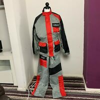 LEWIS Quality Lined Pack-Away 2 Piece Waterproof Motorcycle Suit VGC - FAST POST