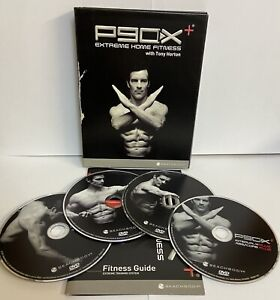 P90X PLUS EXTREME HOME FITNESS WORKOUT 4 DVD SET NEW EXERCISE GYM FIT TRAINER