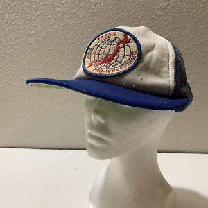 Vintage All Japan Pro Wrestling Trucker Snap Back Hat Patch Misawa Kobashi