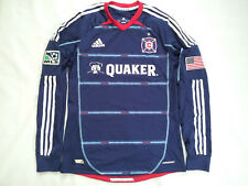 RARE ADIDAS FORMOTION CHICAGO FIRE LONGSLEEVES SOCCER GAME JERSEY SIZE M