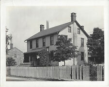 1920s CABINET PHOTO ROBESONIA PA/PENNSYLVANIA WOODEN HOME & PICKET FENCE