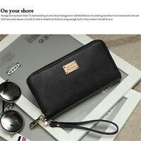 UK Women butterfly PU Leather Long Purse Wallet Clutch Zip Bag Card Holder