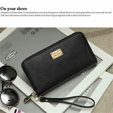 New Women Leather Wallet Lady Card Coin Holder Long Purse Clutch Zipper Bag yu