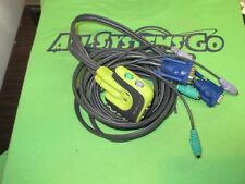 IOGear GCS62 2-Port (2x6' attached Cables) MiniView PS/2 KVM Switch