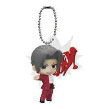 Bandai Phoenix Wright Ace Attorney TV anime key chain Figure Miles Edgeworth