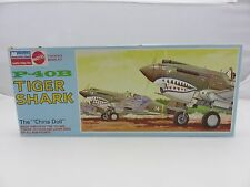Monogram P-40B TIGER SHARK China Doll 1/48 Scale Plastic Model Kit UNBUILT 1968